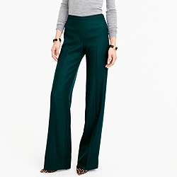 Collection full-length pant in Italian wool serge