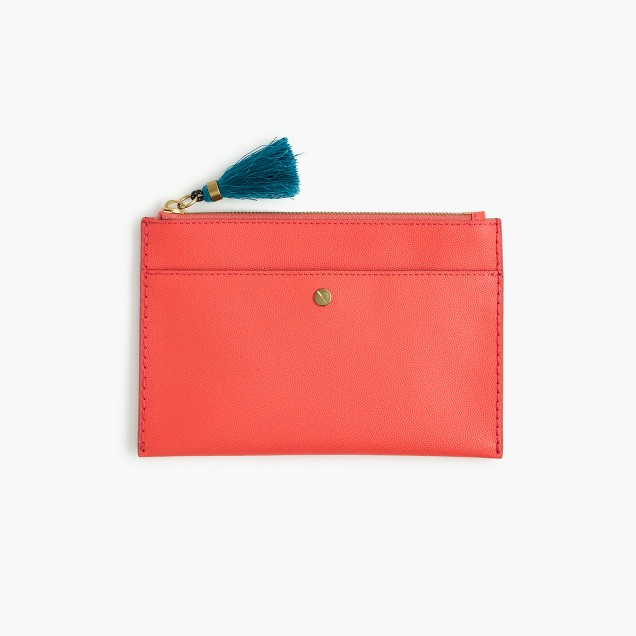 Medium pouch in Italian leather