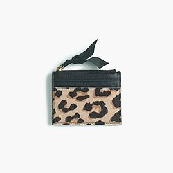 Small zip wallet in Italian calf hair