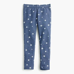 Girls' everyday cozy leggings in stars