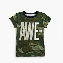 "Girls' camo ""awesome"" T-shirt"