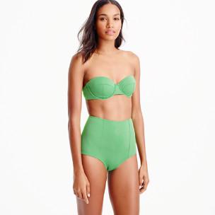 Underwire bikini top in Italian matte