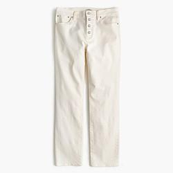 Vintage crop jean in ecru