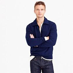Half-zip pullover sweatshirt
