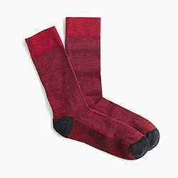 Fine microstripe performance socks