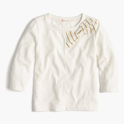 Girls' holiday bow T-shirt