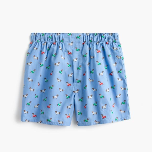 Holiday dog print boxers