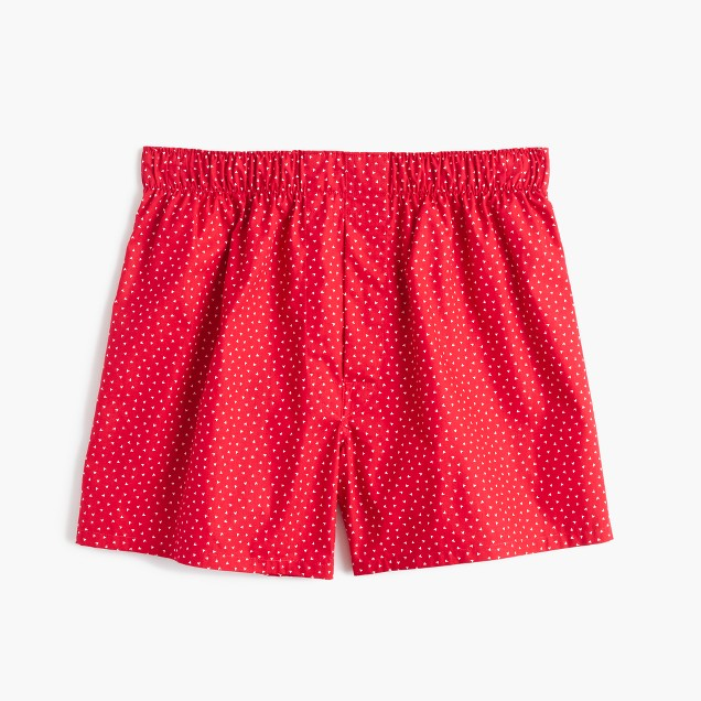 Micro-heart print boxers