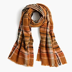 Wool scarf in plaid
