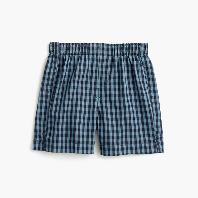 Boys' indigo check boxers