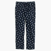 Flannel pajama pant in rabbit print
