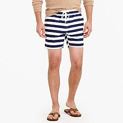 "6"" swim trunk in stripe"