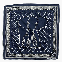 J.Crew for David Sheldrick Wildlife Trust elephant bandana