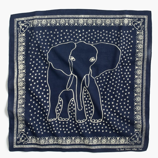 J.Crew for David Sheldrick Wildlife Trust elephant bandana