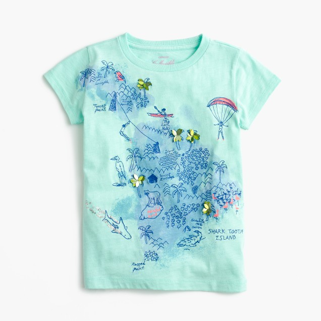 Girls' treasure map T-shirt