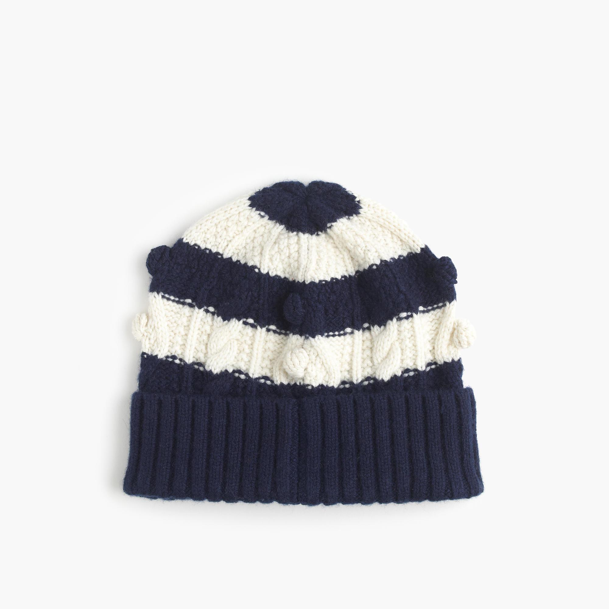 striped pom pom hat s winter hats j crew