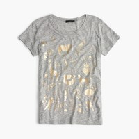 Metallic menagerie T-shirt