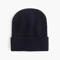 Solid beanie hat