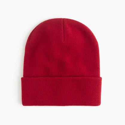 Solid beanie hat