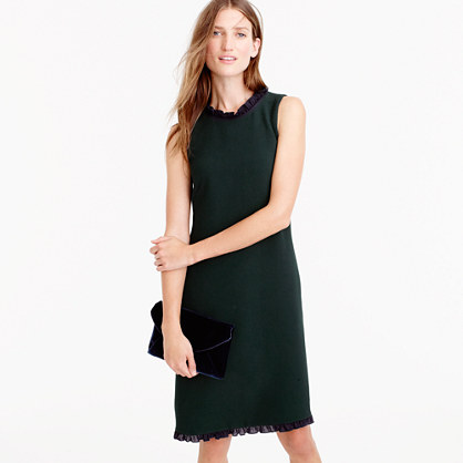Petite ruffle-trim shift dress