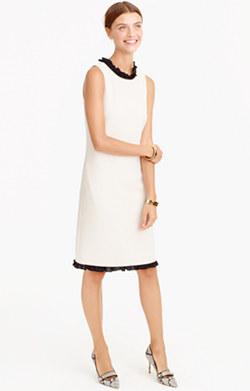 Ruffle-trim shift dress