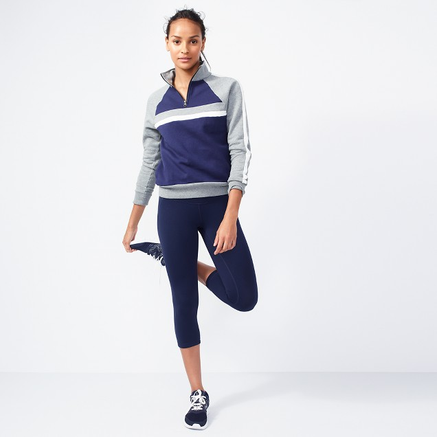 Colorblock half-zip jacket