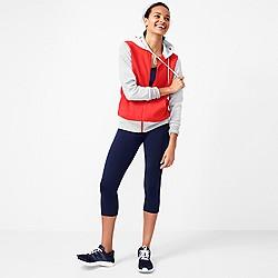 Colorblock varsity zip hoodie