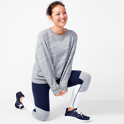 Fleece-lined sweatshirt