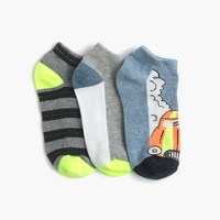 Boys' car ankle socks three-pack