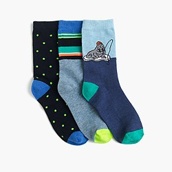 Boys' walrus socks three-pack
