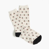 Trouser socks in skiing penguin print