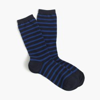 Striped trouser socks