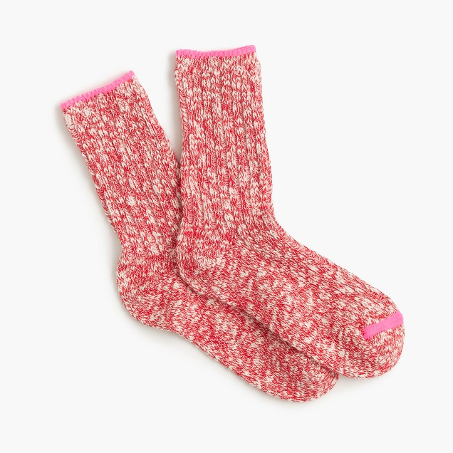 Girls' marled camp socks