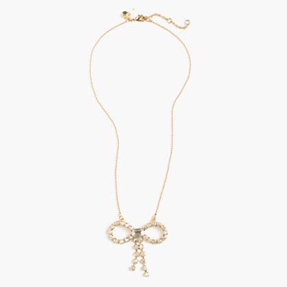 Girls' gem bow necklace