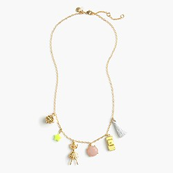Girls' ballet charm necklace