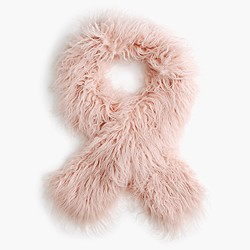 Girls' fuzzy faux-fur scarf