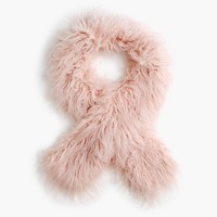 Girls' fuzzy faux-fur scarf