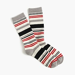 Trouser socks in striped colorblock