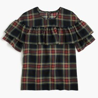 Petite Edie top in Stewart plaid