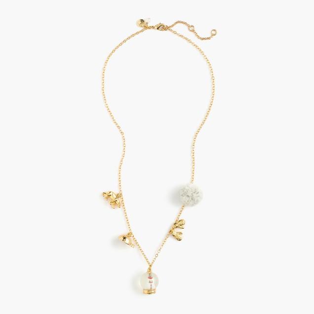 Girls' winter wonderland charm necklace