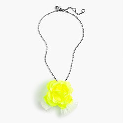 Pre-order Girls' neon flower necklace