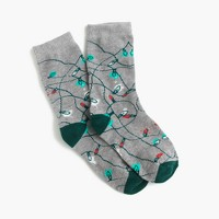 Boys' holiday lights socks