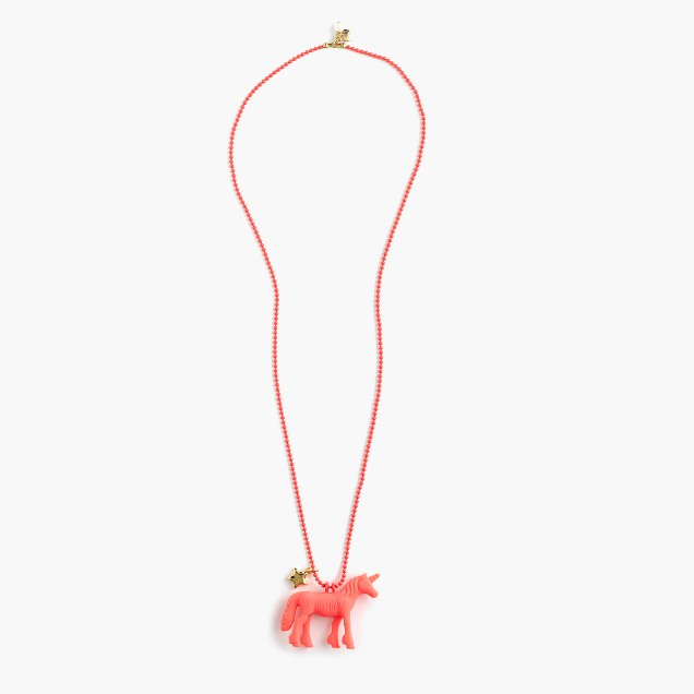 Girls' rubber pendant necklace