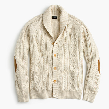 Cotton mariner cable cardigan
