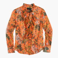 Collection ruffle top in Ratti® fruity floral print