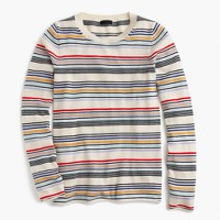 Italian cashmere thin-striped sweater