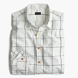 Slub cotton shirt in windowpane