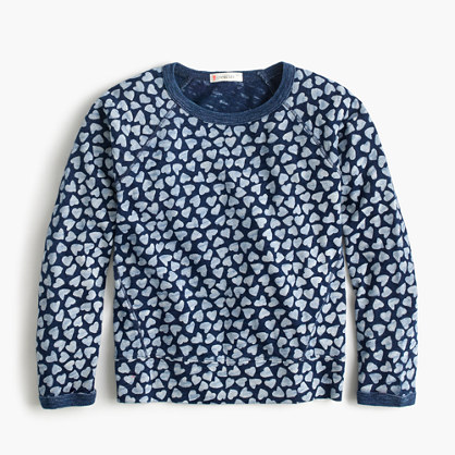 Girls' sweatshirt in allover hearts