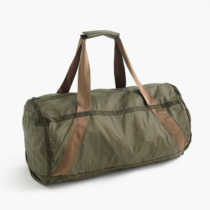 Packable ripstop duffel bag