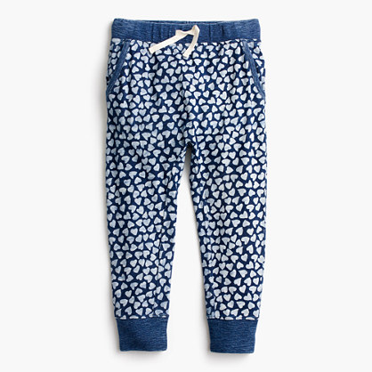 Pre-order Girls' sweatpant in allover hearts